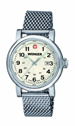 Wenger Urban Classic women's quartz Watch with silver Dial analogue Display and silver stainless steel Bracelet (Silver Dial Analogue Display)