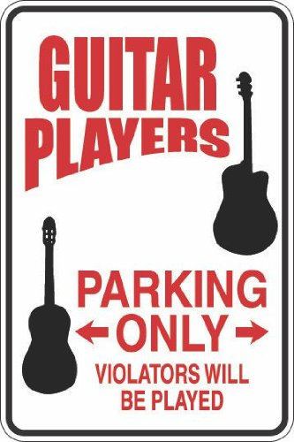 StickerPirate Guitar Players Parking Only 8