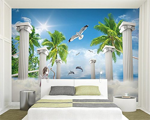 Mznm Custom photo mural wallpaper 3D European seascape background wall wallpaper for walls 3 d papier peint Wall Sticker 400X280cm