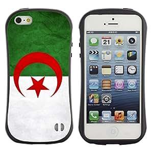 Suave TPU GEL Carcasa Funda Silicona Blando Estuche Caso de protección (para) Apple Iphone 5 / 5S / CECELL Phone case / / National Flag Nation Country Algeri /