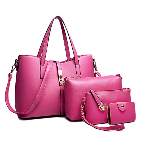 6 5cm De Asas L Mujer Rosa Red 18 Para W amp; 5 5cm 33 24cm 11 Rojo b 14 22 14 Collection® Bolso wqanX6I