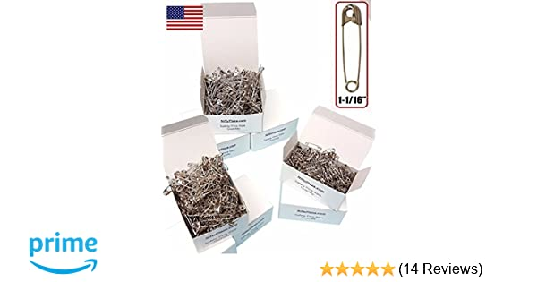 """NiftyPlaza 500 Safety Pins Size 1-1//16/"""" Heavy Duty Industrial Strength No Rust"""