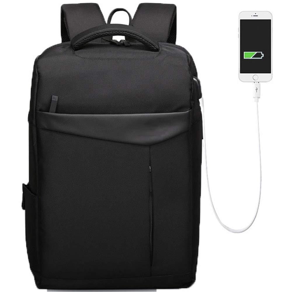 Rucksack - Laptop Rucksack 14 Reiserucksack Wasserdichter Diebstahlschutz mit USB-Ladeanschluss für Reise-Campingrucksack Schwarz Camping Männer und Frauen Wanderrucksack