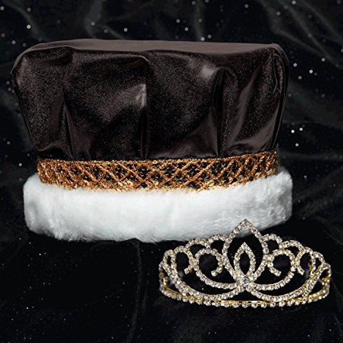 Black Metallic Crown and Gold Sasha Tiara Royalty Set