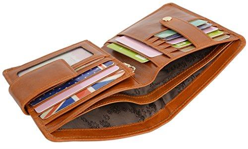 YALUXE Genuine Leather Bi Fold Organizer