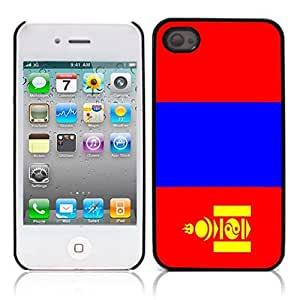 The national flag of Mongolia Hard Plastic and Aluminum Back Case for Apple iphone 4 4S