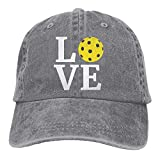Men's/Women's Adjustable Denim Jeans Baseball Caps Love Pickleball Hiphop Cap