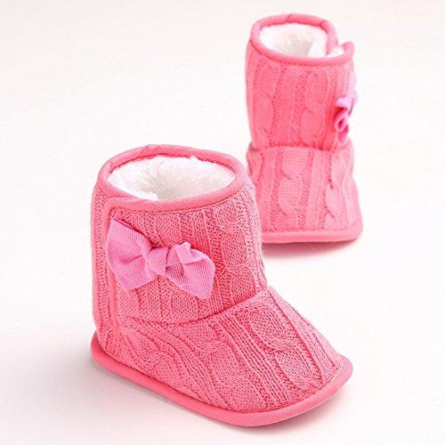 leap frog  Snow Boots,  Baby Mädchen Schneestiefel , Rot - rose - Größe: 12-18 Monate