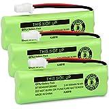 QTKJ BT183482 BT283482 Battery Compatible Vtech DS6401 DS6421 DS6422 DS6472 LS6405 LS6425 LS6425-3 LS6426 LS6475 LS6475-3 LS6476 89-1348-01 Cordless Phone Handset (3-Pack)