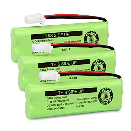 (QTKJ BT183482 BT283482 Battery for Vtech DS6401 DS6421 DS6422 DS6472 LS6405 LS6425 LS6425-3 LS6426 LS6475 LS6475-3 LS6476 89-1348-01 Cordless Phone Handset (3-Pack))