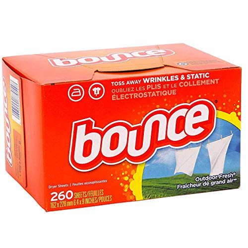 Bounce Fabric Softener Dryer Sheets | Outdoor Fresh Scent - 260 Sheets - Keeps Clothing Soft, Fresh and Smelling Great