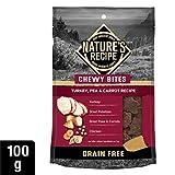 Nature's Recipe Chewy Bites Grain Free Turkey, Pea & Carrot Recipe Dog Treats 100g