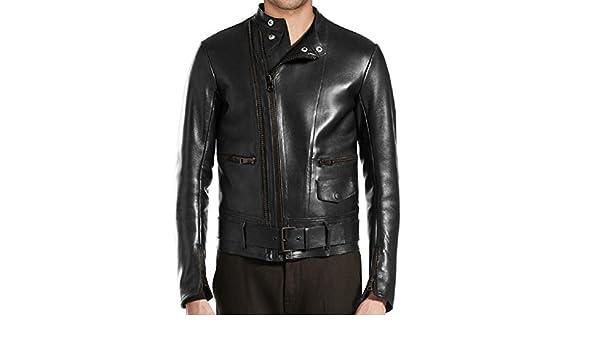 Stylish Mens Biker Zipper Leather Casual Jacket LT434