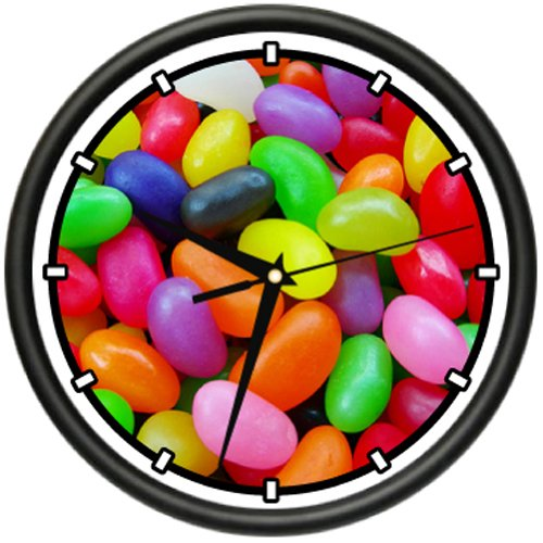 JELLY BEANS Wall Clock colorful candy easter beans candy sto