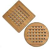 Lipper International 8821-2 Bamboo Trivets, Set of 2