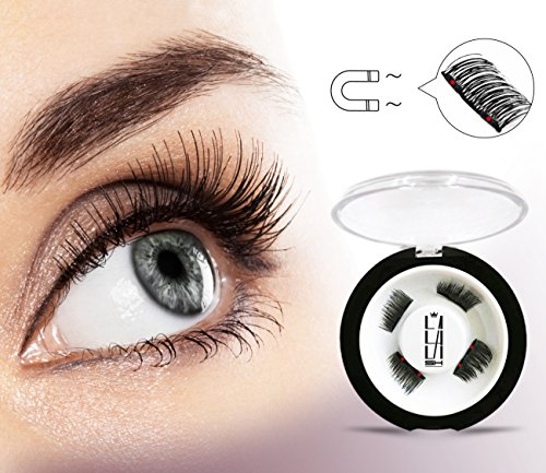 904baaffc94 Dual Magnetic Half Size False Eyelashes Set (4 pieces) - Handmade 3D Fake  Magnetic