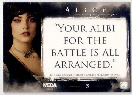Twilight Eclipse Trading Card Alice Cullen #5 [Toy] (Twilight Trading Cards)