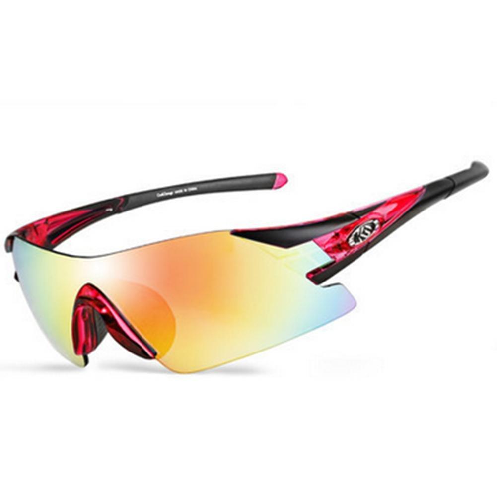 DZW Fahrrad Brille polarisiert Outdoor Brille Outdoor Brille Sportbrillen Reiten Brille Männer und Frauen-Ausrüstung , ROT and schwarz