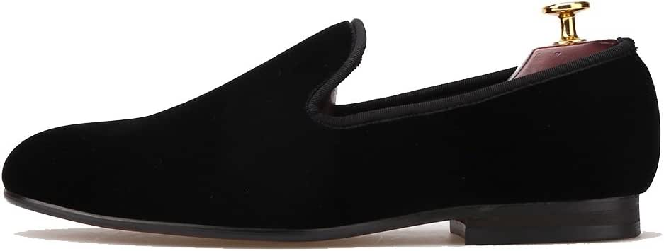 Amazon.com | Merlutti Shoes Velvet Smoking Slippers Men's
