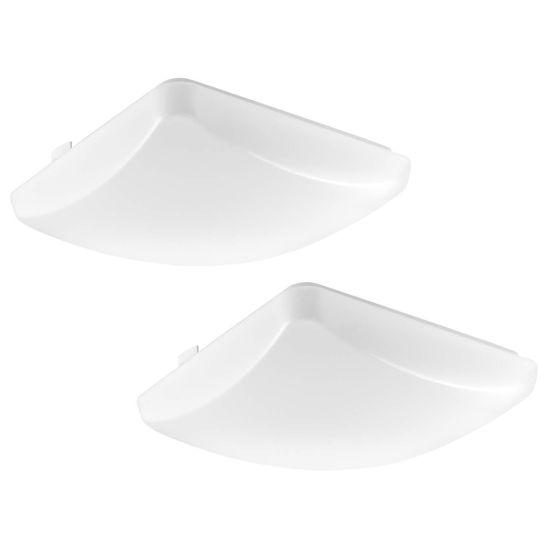 Amazon.com: Lámpara de techo cuadrada LED de 11 pulgadas, de ...
