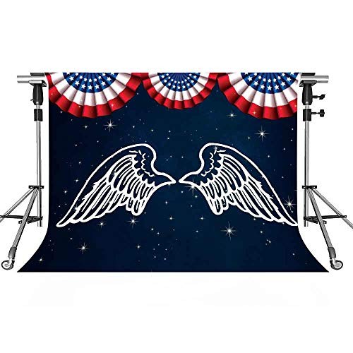 MEETSIOY American Elements Backdrops Stars and Stripes Eagle Wings USA Elements Photography Backdrops Photo Studio Background Props Interior Mural 7x5ft - Eagles Wings Accessories