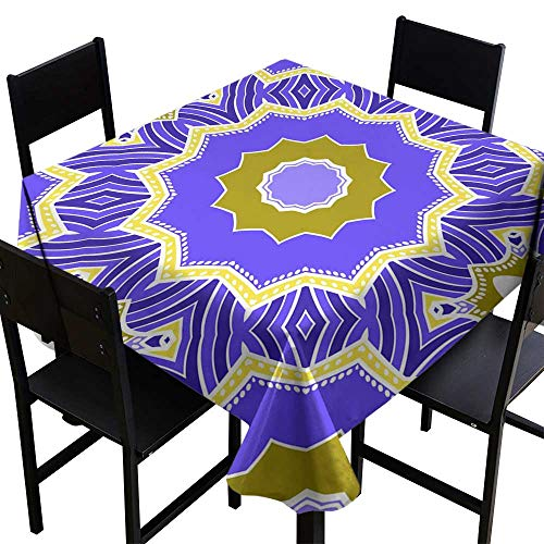(Square Tablecloth Plaid Seamless Art Deco Floral Pattern with Modern Style Ornament on Color Background for Wallpaper Cover Book Fabric scrapbooks 16,W70 x L70 Rectangle Desk Cloth)