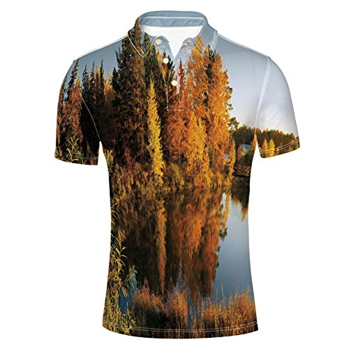 iPrint T-Shirts Colorado Rocky Mountains Western Wilderness USA Shirts for Mens