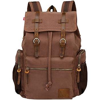 Amazon.com : Lifewit 17 Inch Canvas Laptop Backpack Unisex Vintage ...