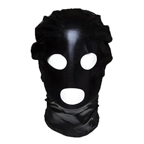 Máscara de Cuero para Disfraz Juegos entre Pareja Color Negro/rojo Muy Padre
