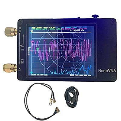 Vector Network Analyzer 50KHz -900MHz Antenna Analyzer 2.8 inch TFT Display Measuring S parameters, Voltage Standing Wave Ratio, Phase, Delay, Smith Chart