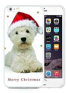Customized iPhone 6 Plus Case,Christmas Dog White iPhone 6 Plus 5.5 TPU Case 2