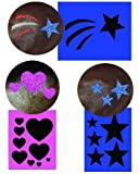Twinkle Traditional Stencil Kit Stars and Hearts