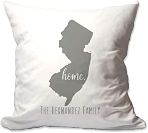 Pattern Pop Personalized State of New Jersey Home Throw Pillow Cover - 17X17 Throw Pillow Cover (NO Insert) - Decorative Throw Pillow Cover - Soft Polyester