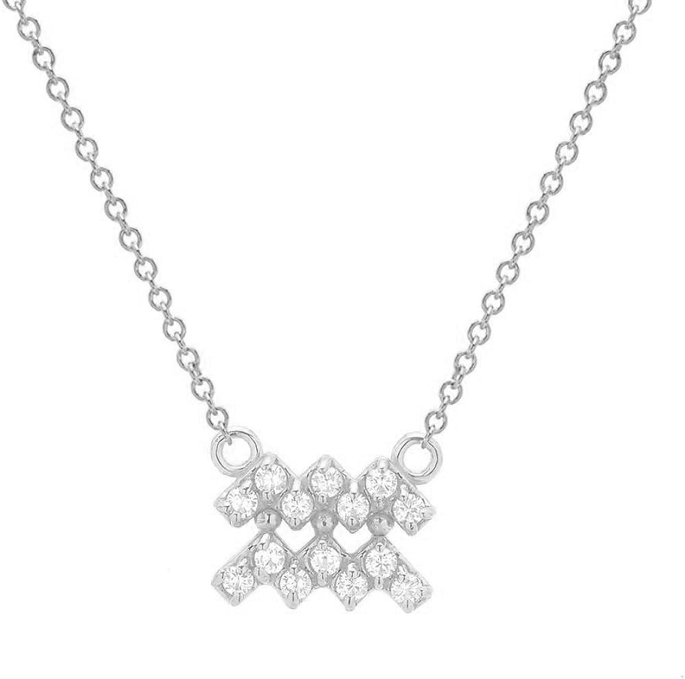 Mini Mini Jewels 14k Gold Brilliant Diamond Set Zodiac Taurus Dog-tag Pendant Nacklace