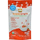 HAPPYMETLS Organic Yogurt Snacks for Babies & Toddlers, Strawberry, 1-Ounce Pouch ( Value Bulk Multi-pack)