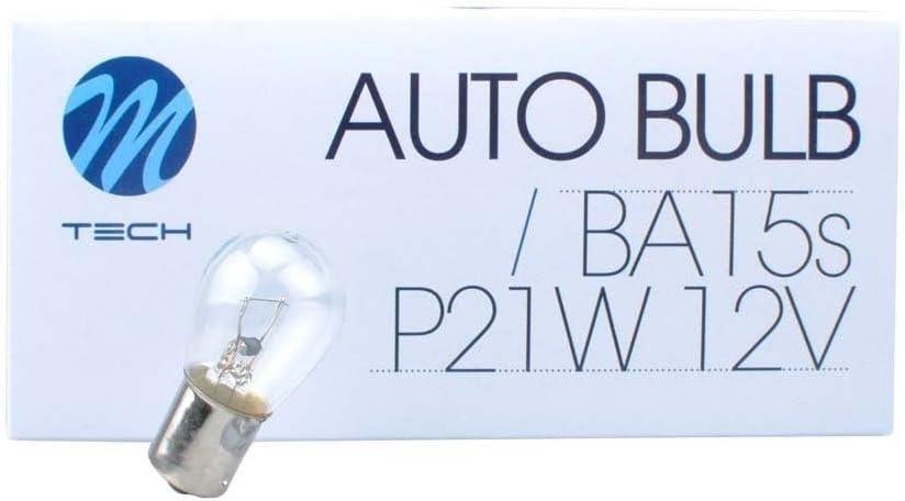 10x Glühbirne M Tech Ba15s 12v 21w S25 Klar Z14er Auto Kfz Standlicht Autolampen Glühbirne Kennzeichenlicht Mit E Zeichen Auto
