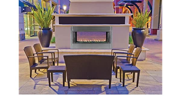 43 Propane Gas Electronic Ignition Linear Outdoor Vent-Free Fireplace