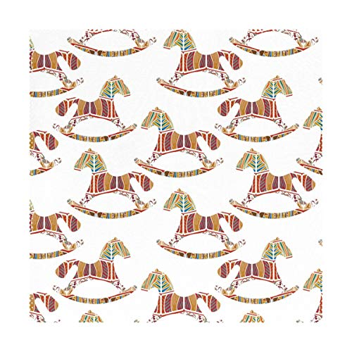 Verne Lyly Colorful Ceramic Rocking Horse Placemats for