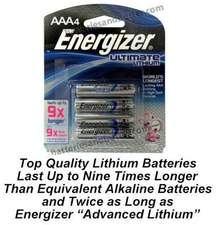Energizer L92 Photo AAA Ultimate Lithium Battery 4 Pack