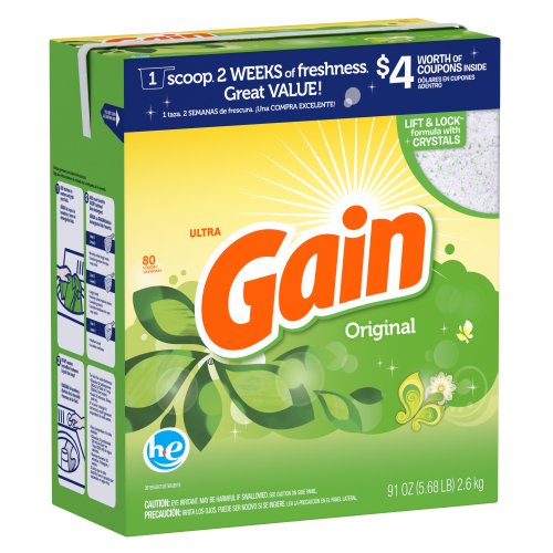 Amazon.com: Gain Ultra With Freshlock For He Machines Original Powder Detergent 80 Loads 91 Oz: Health & Personal Care