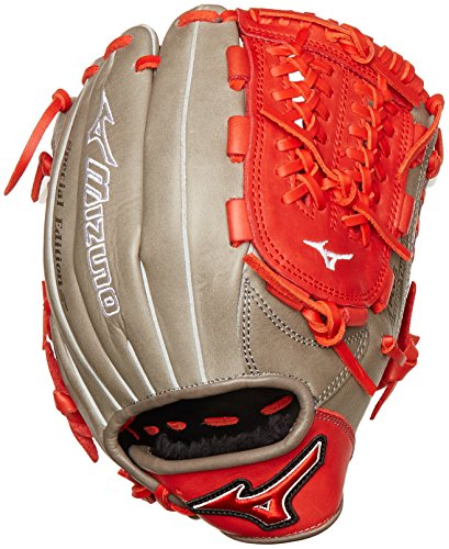 Mizuno MVP Prime SE GMVP1177PSE4 Infield Gloves, Smoke/Red, Right Hand