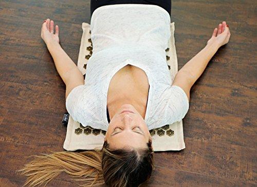Ajna Eco Acupressure Massage Mat Natural Organic Linen