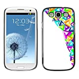 LASTONE PHONE CASE / Slim Protector Hard Shell Cover Case for Samsung Galaxy S3 I9300 / Cool Modern Art Triangles Colorful Purple