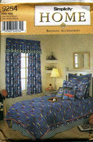 - Simplicity Sewing Pattern 9254 Home Bedding Accessories