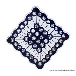 Bunzlauer keramik assiette à dessert carré 16,4 x 16.4 cm motif 8