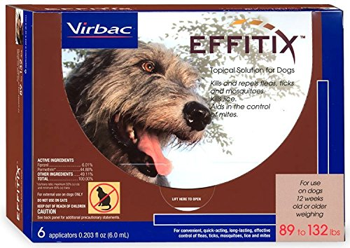 VEDCO Effitix Topical solution for Dogs 89132 lbs. 6 Months