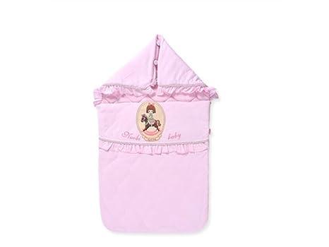 Guardería Bebé Bolsa de dormir de patrón de niña pequeña recién nacida Manta de abrigo grueso
