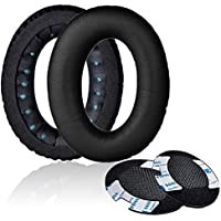 Replacement Earpad Cushion Ear Pads For Bose Headphone QuietComfort 2 QC2,QuietComfort 15 QC15,QuietComfort 25 QC25, QuietComfort 35 QC35, SoundTrue,AE2, AE2i , AE2w, soft memory foam (1 pair, black)