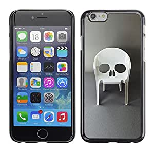Shell-Star Arte & diseño plástico duro Fundas Cover Cubre Hard Case Cover para Apple iPhone 6 Plus(5.5 inches)( Design Furniture Skull Vampire Chair )