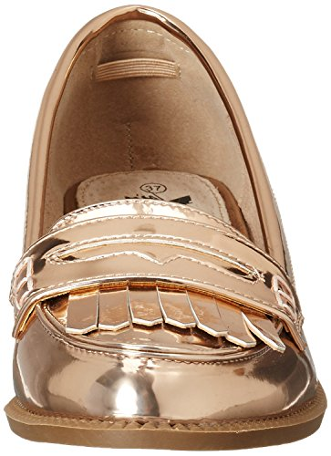 XTI Nude Mirror Pu Ladies Shoes . - Mocasines Mujer Pink (Nude)